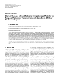 """Báo cáo hóa học: """"  Research Article Diurnal Changes of Heart Rate and Sympathovagal Activity for Temporal Patterns of Transient Ischemic Episodes in 24-Hour Electrocardiograms"""""""