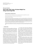 "Báo cáo hóa học: "" Research Article Quasi-Cyclic LDPC Codes of Column-Weight Two Using a Search Algorithm"""