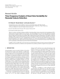 "Báo cáo hóa học: ""  Research Article Time-Frequency Analysis of Heart Rate Variability for Neonatal Seizure Detection"""