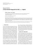 "Báo cáo hóa học: "" Research Article A Time-Domain Fingerprint for BOC(m, n) Signals"""