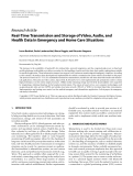 """Báo cáo hóa học: """"  Research Article Real-Time Transmission and Storage of Video, Audio, and Health Data in Emergency and Home Care Situations"""""""
