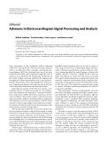 """Báo cáo hóa học: """"  Editorial Advances in Electrocardiogram Signal Processing and Analysis"""""""