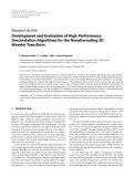 """Báo cáo hóa học: """" Research Article Development and Evaluation of High-Performance Decorrelation Algorithms for the Nonalternating 3D Wavelet Transform"""""""