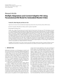 """Báo cáo hóa học: """"  Research Article Multiple Adaptations and Content-Adaptive FEC Using Parameterized RD Model for Embedded Wavelet Video"""""""