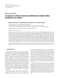 """Báo cáo hóa học: """" Research Article Comparison of Error Protection Methods for Audio-Video Broadcast over DVB-H"""""""