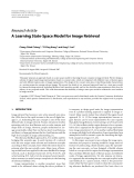 """Báo cáo hóa học: """" Research Article A Learning State-Space Model for Image Retrieval"""""""