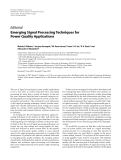 """Báo cáo hóa học: """"  Editorial Emerging Signal Processing Techniques for Power Quality Applications"""""""