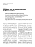 """Báo cáo hóa học: """" Editorial Transforming Signal Processing Applications into Parallel Implementations"""""""