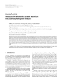 """Báo cáo hóa học: """" Research Article Unobtrusive Biometric System Based on Electroencephalogram Analysis"""""""