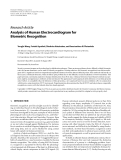 """Báo cáo hóa học: """"  Research Article Analysis of Human Electrocardiogram for Biometric Recognition"""""""