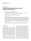 """Báo cáo hóa học: """" Research Article Joint Source and Channel Decoding for Variable Length Encoded Turbo Codes"""""""