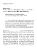 """Báo cáo hóa học: """"  Research Article NLOS Identification and Weighted Least-Squares Localization for UWB Systems Using Multipath Channel Statistics"""""""