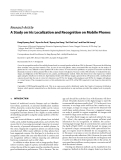 """Báo cáo hóa học: """" Research Article A Study on Iris Localization and Recognition on Mobile Phones"""""""
