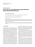 "Báo cáo hóa học: ""  Research Article Description of a 2-Bit Adaptive Sigma-Delta Modulation System with Minimized Idle Tones"""