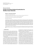"""Báo cáo hóa học: """" Research Article Energy-Constrained Optimal Quantization for Wireless Sensor Networks"""""""