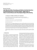 """Báo cáo hóa học: """" Research Article Joint Wavelet Video Denoising and Motion Activity Detection in Multimodal Human Activity Analysis: Application to Video-Assisted """""""