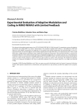 """Báo cáo hóa học: """" Research Article Experimental Evaluation of Adaptive Modulation and Coding in MIMO WiMAX with Limited Feedback"""""""