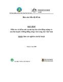 """Báo cáo nghiên cứu nông nghiệp """"Điều tra và kiểm soát sự nứt hạt lúa trên đồng ruộng và sau thu hoạch ở Đồng Bằng sông Cửu Long của Việt Nam - MS10 """""""