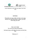 """Báo cáo nghiên cứu nông nghiệp """" Phát triển nuôi ngao nhằm cải thiện và đa dạng sinh kế cho công đồng dân cư nghèo ven biển miền trung Việt nam - Milestone 11 """""""