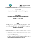 """Báo cáo nghiên cứu nông nghiệp """" Lên men, sấy và đánh giá chất lượng ca cao ở Việt Nam -  MS8: Đánh giá năng lực của cán Đại học Cần Thơ, Đại học Nông Lâm TPHCM và Viện KHKT Nông Lâm nghiệp Tây Nguyên """""""