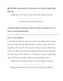 """ĐỀ: Một đoạn trong trường ca Mặt đường khát vọng, nhà thơ Nguyễn Khoa Điềm viết: """"Những người vợ nhớ chồng còn góp cho Đất Nước những núi Vọng Phu …………………………………………….. Gợi trăm màu trên trăm dáng sông xuôi""""…"""