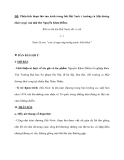 """ĐỀ: Phân tích đoạn thơ sau trích trong bài Đất Nước ( trường ca Mặt đường khát vọng) của nhà thơ Nguyễn Khoa Điềm: Khi ta lớn lên Đất Nước đã có rồi (…) Nước là nơi """"con cá ngư ông móng nước biển khơi"""""""