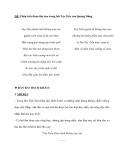 ĐỀ: Phân tích đoạn thơ sau trong bài Tây Tiến của Quang Dũng