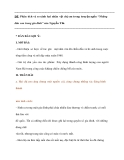 """ĐỀ: Phân tích và so sánh hai nhân vật chị em trong truyện ngắn """"Những đứa con trong gia đình"""" của Nguyễn Thi."""