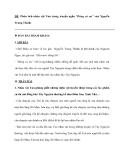 """ĐỀ: Phân tích nhân vật Tnú trong truyện ngắn """"Rừng xà nu"""" của Nguyễn Trung Thành."""