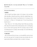 """ĐỀ: Hình tượng cây xà nu trong truyện ngắn """"Rừng xà nu"""" của Nguyễn Trung Thành."""