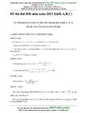 Đề thi thử ĐH môn toán 2011 (khối A,B,C) KỲ THI KHẢO SÁT CHẤT LƯỢNG ÔN THI ĐẠI HỌC KHỐI A - B – D Môn thi: Toán
