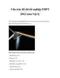 Cấu trúc đề thi tốt nghiệp THPT 2012 môn Vật lý