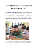 Chuẩn bị tốt kiến thức, kỹ năng và tâm lý khi thi tốt nghiệp THPT