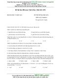 Đề thi thử ĐH môn Vật lý lần 1 (Bộ GD- ĐT) môn lý khối A
