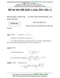 Đề thi thử ĐH khối A năm 2011 (lần 1) môn toán