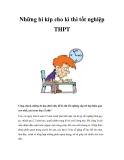 Những bí kíp cho kì thi tốt nghiệp THPT
