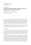 """Báo cáo hóa học: """" Research Article Generalized Augmented Lagrangian Problem and Approximate Optimal Solutions in Nonlinear Programming"""""""