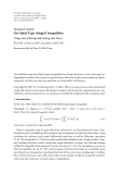 """Báo cáo hóa học: """" Research Article On Opial-Type Integral Inequalities Wing-Sum Cheung and Chang-Jian Zhao"""""""