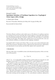 """Báo cáo hóa học: """"  Research Article Equivalent Solutions of Nonlinear Equations in a Topological Vector Space with a Wedge"""""""
