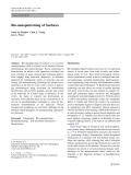 """Báo cáo hóa học: """"  Bio-nanopatterning of Surfaces"""""""