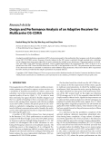 """Báo cáo hóa học: """"  Research Article Design and Performance Analysis of an Adaptive Receiver for Multicarrier DS-CDMA"""""""