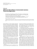"""Báo cáo hóa học: """"  Editorial Millimeter-Wave Wireless Communication Systems: Theory and Applications"""""""