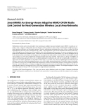 "Báo cáo hóa học: "" Research Article SmartMIMO: An Energy-Aware Adaptive MIMO-OFDM Radio Link Control for Next-Generation Wireless Local Area Networks"""