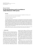 """Báo cáo hóa học: """" Research Article On Intercell Interference and Its Cancellation in Cellular Multicarrier CDMA Systems Simon Plass German Aer"""""""