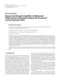 """Báo cáo hóa học: """"  Research Article Reverse Link Outage Probabilities of Multicarrier CDMA Systems with Beamforming in the Presence of Carrier Frequency Offset"""""""