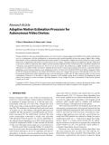 """Báo cáo hóa học: """"  Research Article Adaptive Motion Estimation Processor for Autonomous Video Devices"""""""