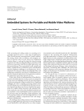 """Báo cáo hóa học: """"  Editorial Embedded Systems for Portable and Mobile Video Platforms"""""""