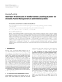 """Báo cáo hóa học: """"  Research Article Hardware Architecture of Reinforcement Learning Scheme for Dynamic Power Management in Embedded Systems"""""""