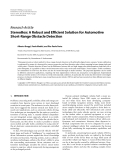 """Báo cáo hóa học: """" Research Article StereoBox: A Robust and Efficient Solution for Automotive Short-Range Obstacle Detection Alberto Broggi, Paolo Medici, and Pier Paolo Porta"""""""