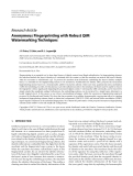 "Báo cáo hóa học: "" Research Article Anonymous Fingerprinting with Robust QIM Watermarking Techniques"""